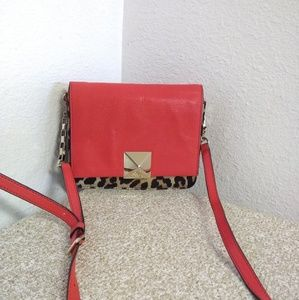 Kate Spade NY Cheetah Print Red Leather Bag